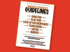 St Kilda PCYC Wicked Schools Guidelines